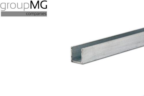 Aluminium U-Profil  Länge 750 mm
