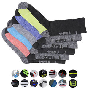 FILA-Men-039-s-6-Pack-Classic-Sport-Athletic-Gym-Moisture-Control-Absorb-Dry-Socks