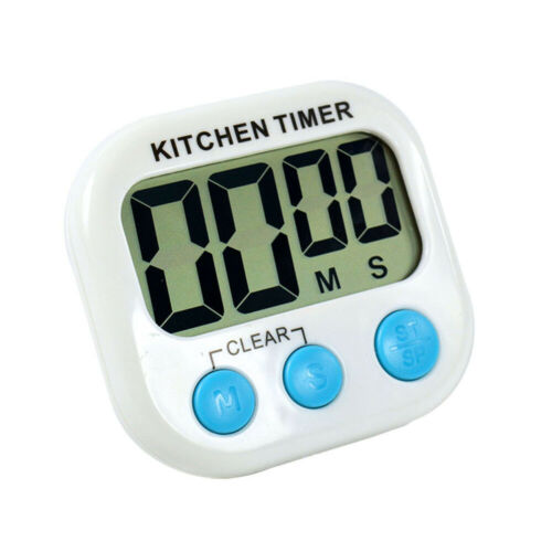 Large LCD Digital Timer Clock Kitchen Cooking Magnetic Loud Alarm Count Down Up