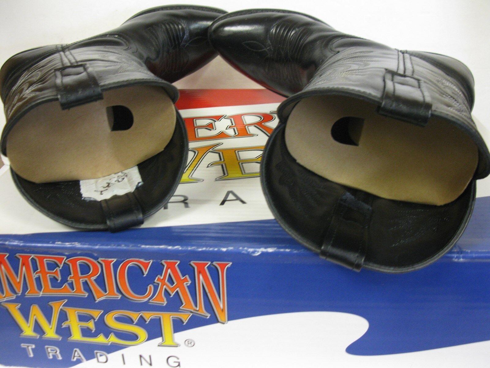 American West 4210 Trading 4210 West Men's Black London Western Boots Size 9.5EU 67797a