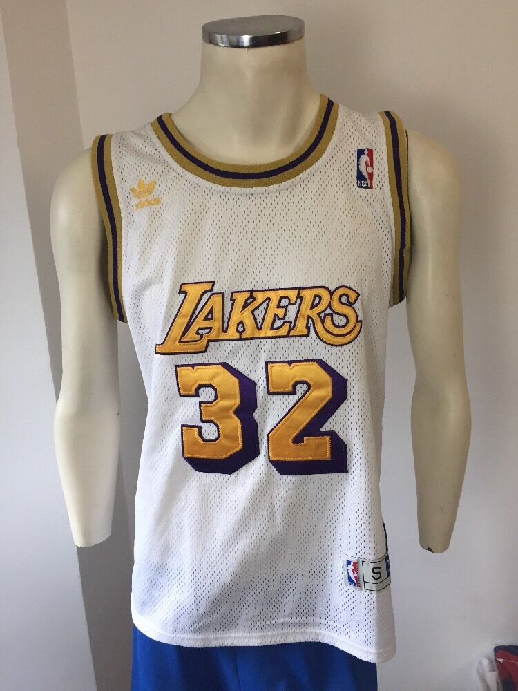 CAMISETA MAGIC JOHNSON NBA LAKERS blancoA ADIDAS RARE TALLA S