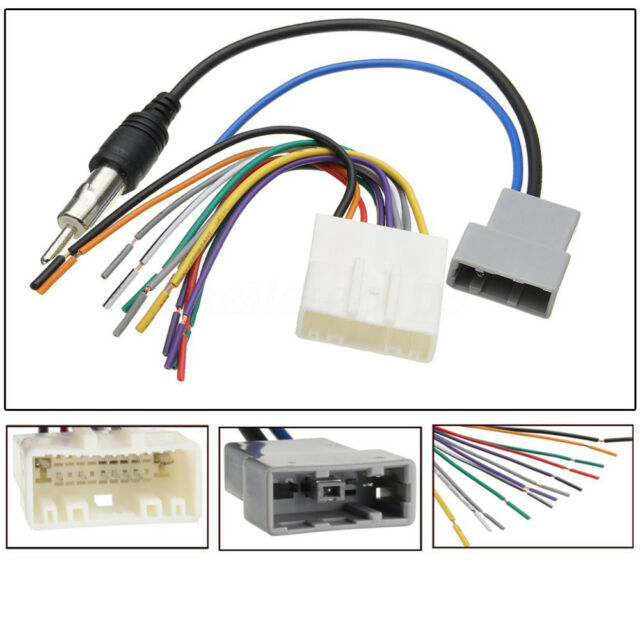 for nissan car dvd radio install stereo wire harness cable plugs rh ebay com nissan wiring harness diagram nissan wiring harness plugs