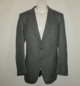 Wool Blazer Heeger Jacket Herringbone Button 44