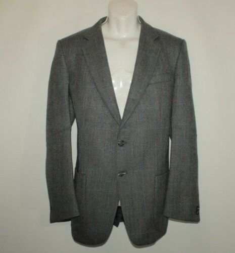 Chest Jacket Button Blue Blazer Fit Wool Grey 44