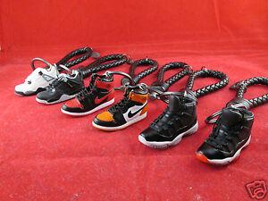 Nike Air Jordan 3D Mini Sneaker Leather Keychain Banned SpaceJam ... b7976521ee3a