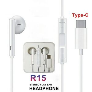 TYPE-C-EARPHONES-SEREO-WIRED-HEADPHONES-WITH-MIC-FOR-HUAWEI-P20-30-PRO-MATE30PRO