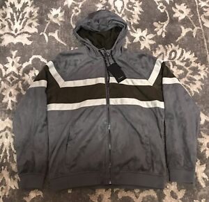 Hooded Suede Color Block Coat