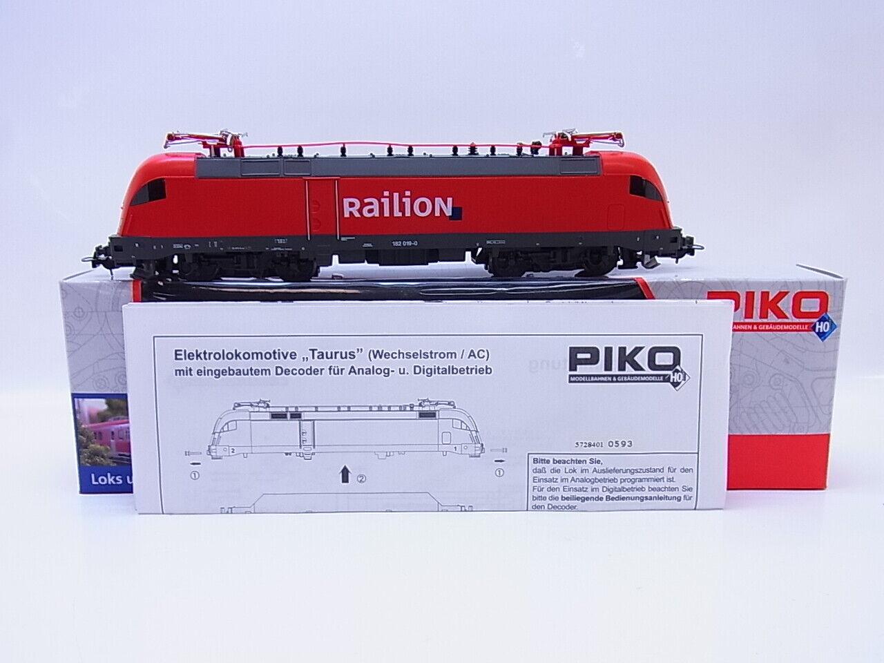 56083   PIKO h0 57284 E-Lok BR 182 Railion Digital per Märklin AC IN SCATOLA ORIGINALE
