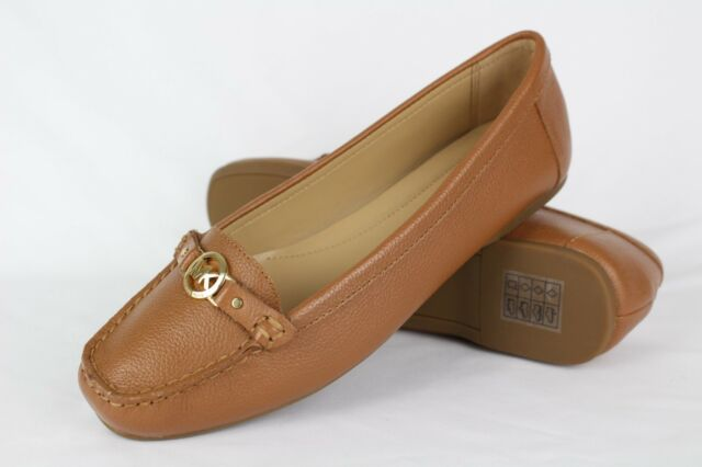 Michael Kors Women's May Moc Loafers Slip On Size 7.5m 8.5m or 10m Brown Leather