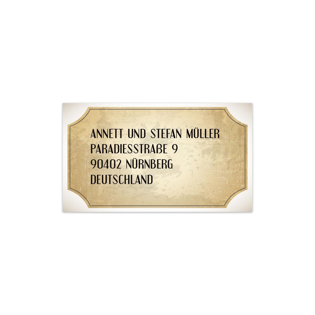 Hochzeit Hochzeit Hochzeit Absenderaufkleber Adressaufkleber Etikett Label Vintage Brautpaar Weiß b4e55a