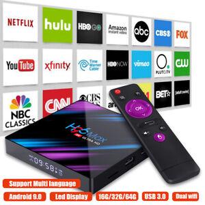 H96-MAX-Smart-TV-BOX-Android-9-0-OS-4G-RAM-32-64GB-Quad-Core-1080p-4K-LED-screen