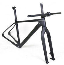 "29er Carbon Mountain Bike Frame Fork Handlebar Stem 19"" Matt 142mm Thru Axle BSA"