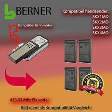 Handsender für BERNER Garagentorantriebe 433,92 MHz SKX2MD,SKX4MD Funksender