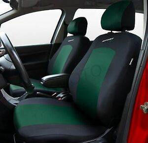 SPORT LINE CAR SEAT COVERS BLACK / GREEN VW TOYOTA FORD VAUXHALL ...