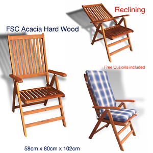 Terrific Details About 2X 2019 Hercules Reclining Acacia Hardwood Fold Up Recliner Deck Chairs Cushion Dailytribune Chair Design For Home Dailytribuneorg
