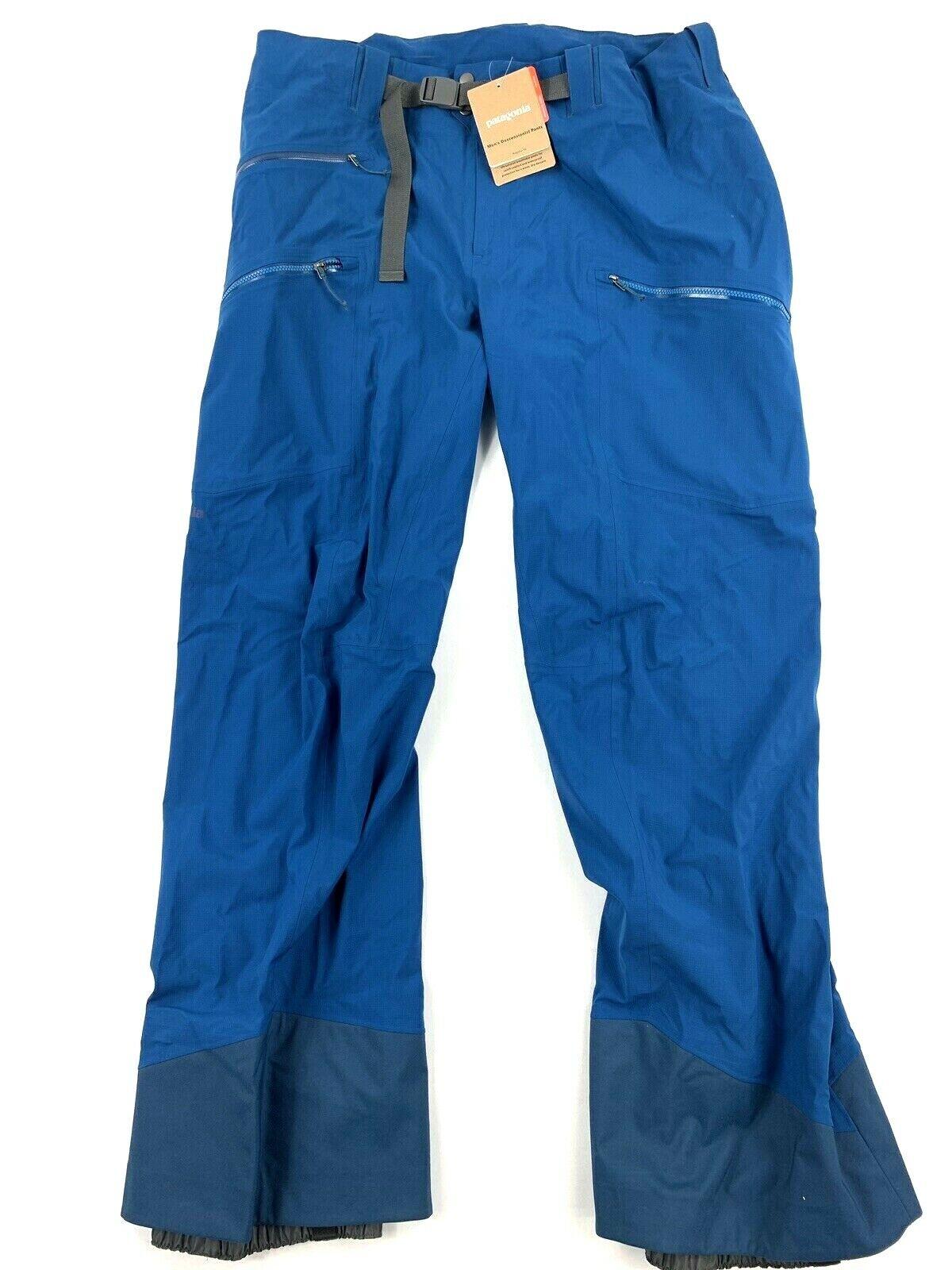 Baltagonia, hombre, pantalones de esquí XL, esquí, esquí, esquí azul grande.