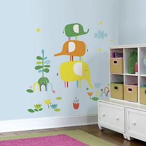 ZUTANO-ELEPHANTASIA-GiaNT-WALL-DECALS-BiG-Baby-Elephants-Nursery-Stickers-Decor