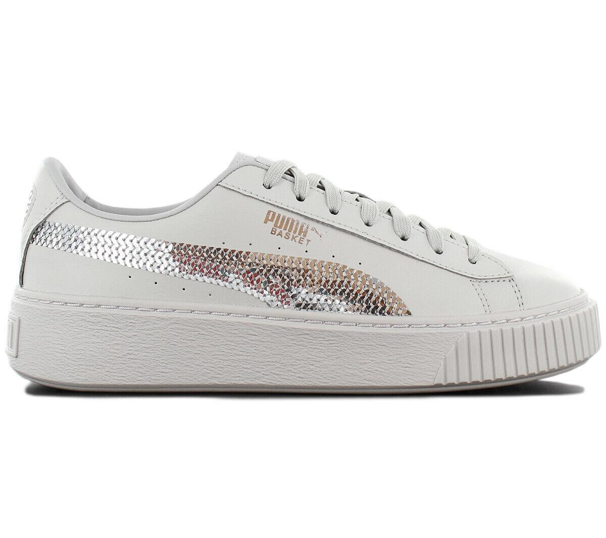 Puma Platform Pallacanestro Bling zapatilla de deporte mujer zapatos Plateau 367237-02 gris