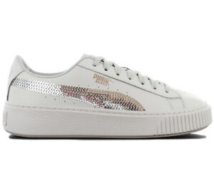 Puma Platform Basket Bling Sneaker Damen Plateau Schuhe