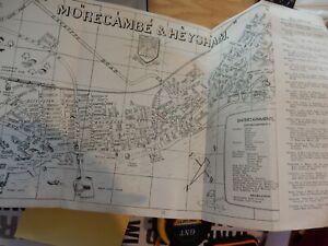 TIRED-MAP-STREET-PLAN-OF-MORCAMBE-HEYSHAM-IDEAL-TO-FRAME-POST-WAR-ERA
