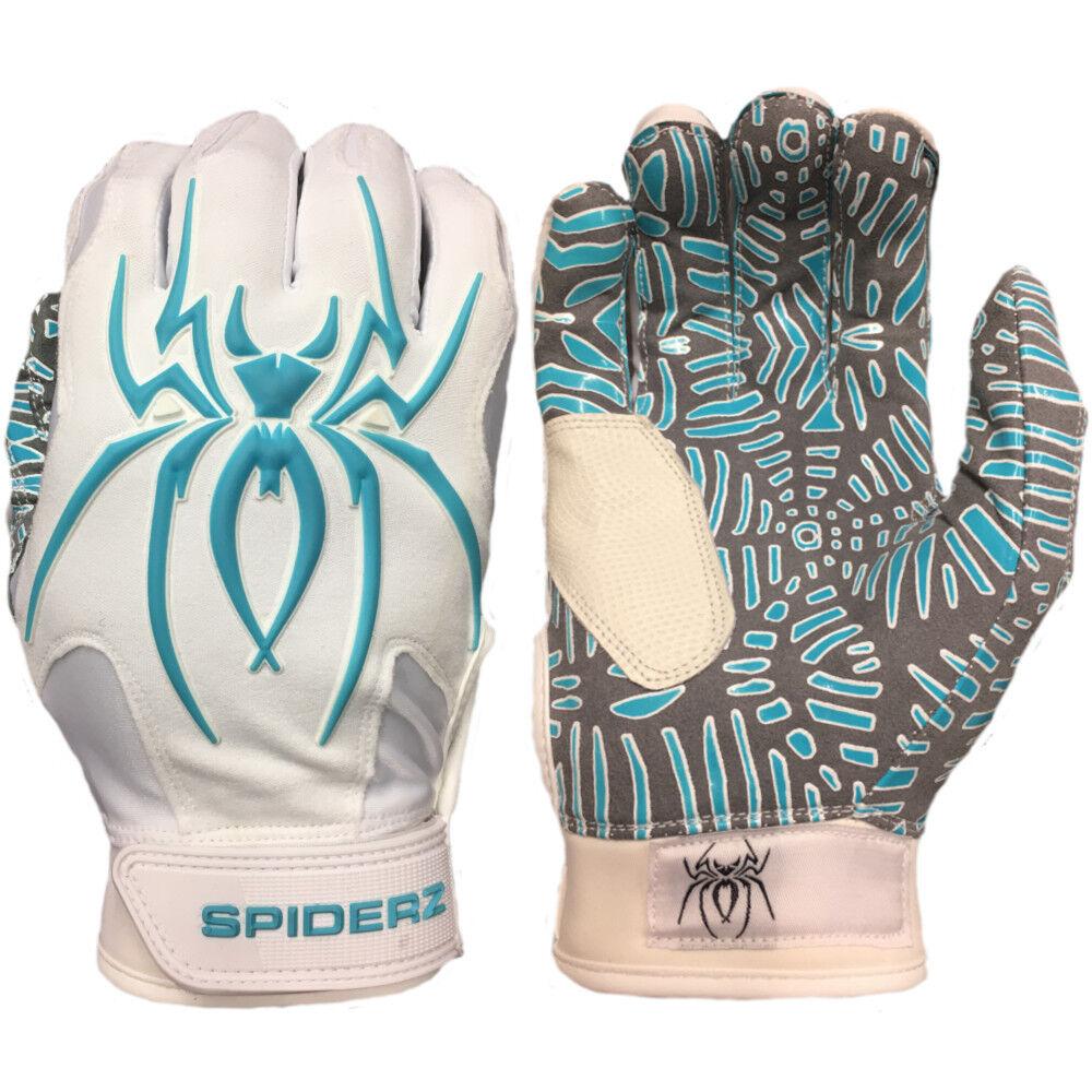 Spiderz SMALL HYBRID WEBTAC PALM Batting Gloves   bianca/Teal SMALL Spiderz df4a1e