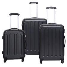 New 3 x Pcs Luggage Travel Bag ABS Trolley Suitcase Set w/TSA Lock Black