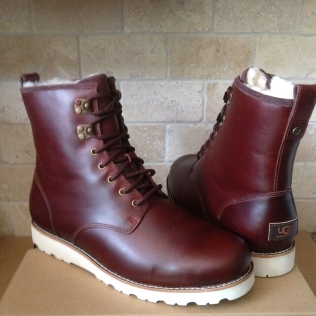 5e9e5243f87 UGG HANNEN TL CORDOVAN WATERPROOF LEATHER SHEEPSKIN BOOTS SHOES SIZE US 11  MENS