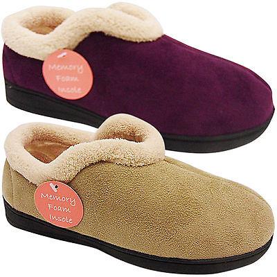 Nuevo Para Mujer Damas bajo Cuña comodidad suave amplia de espuma con memoria Zapatillas Zapatos Talla