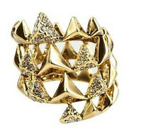 House Of Harlow 1960 Pyramid Wrap Ring With Pave