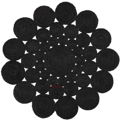 Rug 100/% Natural Jute Bohemian Reversible Area Dhurrie Carpet Floor Mat Rag Rug
