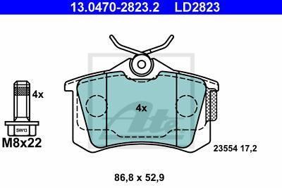 Scheibenbremse ATE 13.0460-2817.2 Bremsbelagsatz