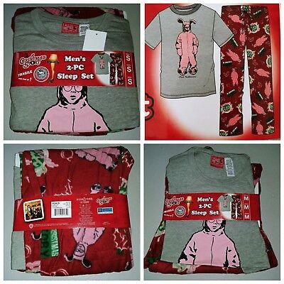 A Christmas Story Men/'s Sleep PaJaMa Set 2pc T Shirt /& Micro Fleece Pants Small