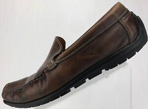 d89c2dda4af5 Ecco Driving Shoes Moccasin Moc Toe Slip On Leather Loafers Mens 43 ...