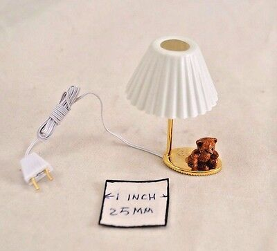 1:12th scale dollhouse 12 volt electric hurricane lamp by Handley House