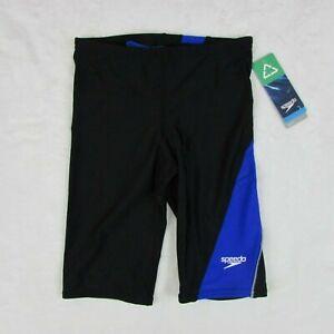 Speedo-Jammer-Swim-Shorts-Black-amp-Blue-Small-Size-28-051650H-420