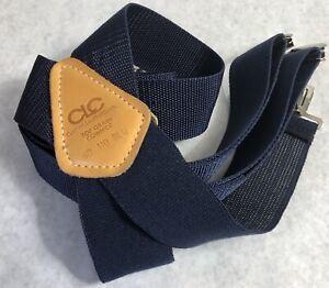CLC-Suspenders-Blue-Custom-Leather-Craft-Clip-110-Wide-USA-Stretch