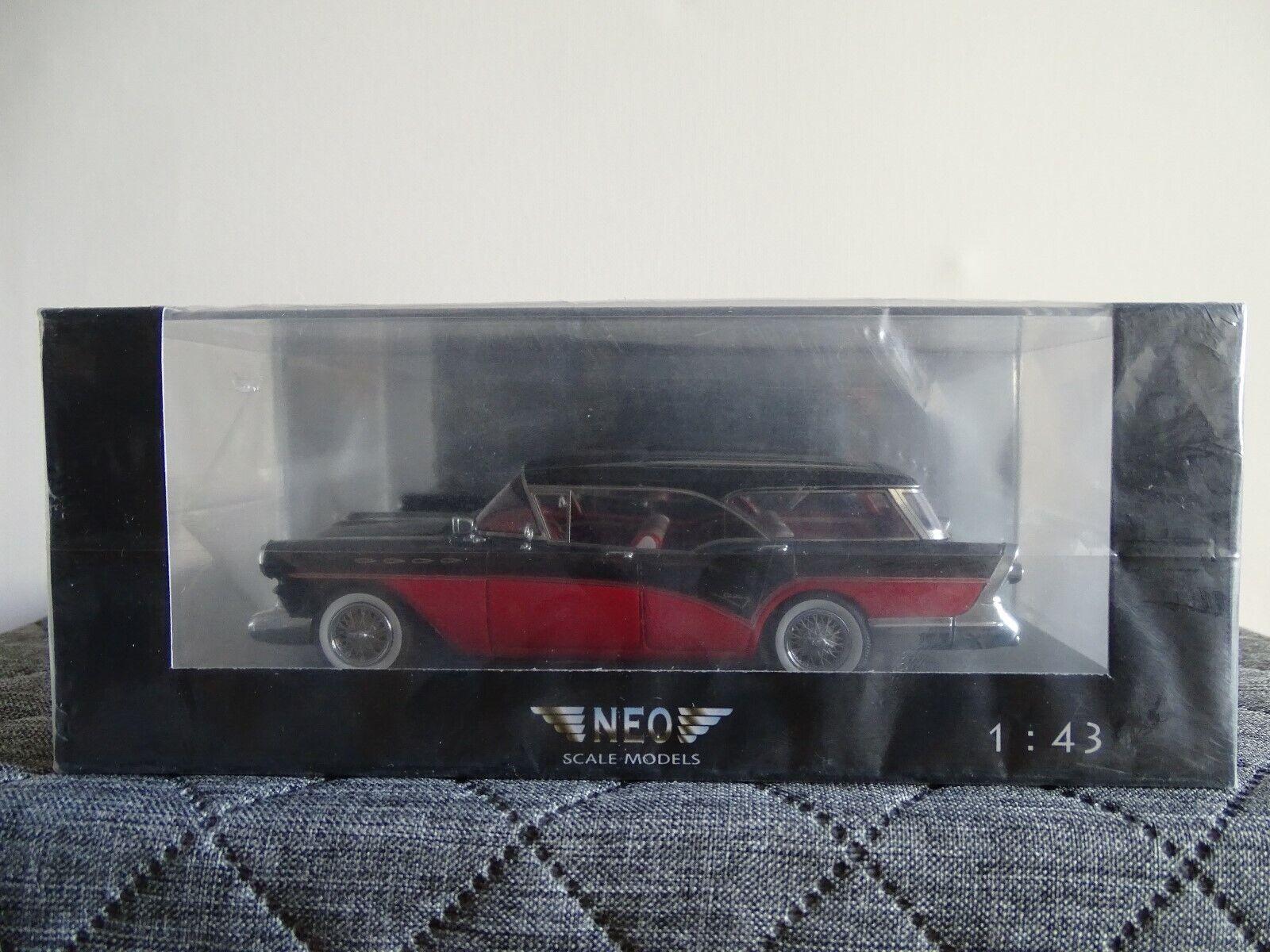 1 43 neo buick century caballero nero rosso nuevo en el embalaje original