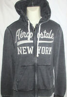 Mens Aeropostale York Dark Gray Sweatshirt Jacket Size S