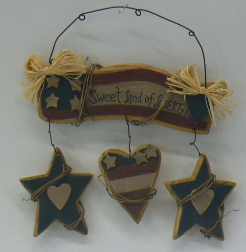 """2 Styles Patriotic 4th of July Rustic Wood Signs 8/"""" X 10/"""""""