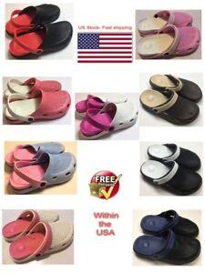 bc72ef6bf1d Women Men Rubber Slip on Nurse Clog Garden Water Sandal Shoes Mule ...