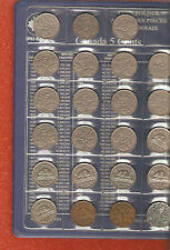 complete set canada five cent coins 1922 - 2016 (no Far 6) great  set A46