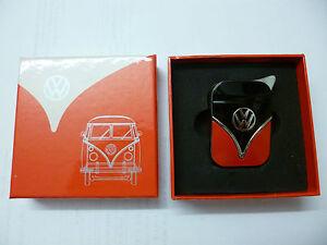 Gas-Feuerzeug-VW-Bulli-Volkswagen-Samba-mit-Ihrem-KFZ-Kennzeichen-rot-schwarz