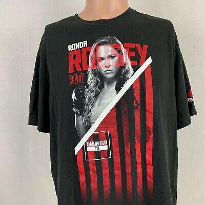 UFC Mens Size M-3XL Rowdy Ronda Rousey MMA Black Short Sleeve Graphic T Shirt