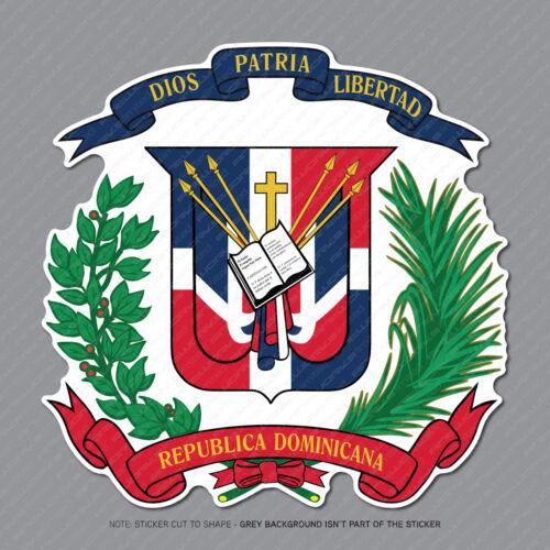 Dominican Coat of Arms Sticker Decal Vinyl Dominican Republic Flag - SKU2907