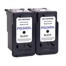 2pk PG245 XL PG-245XL Black Ink Cartridges For Canon PIXMA MG2920 MG2922 MG2924