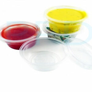 CLEAR PLASTIC 2 oz SAMPLE CUPS/ POTS & LIDS | eBay