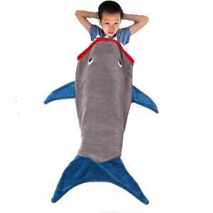 promo code cada9 ba6e0 Details about Kids Shark Sleeping Bag Cosy Blanket Novelty Fun Baby Shark  Super Soft Comfy NEW