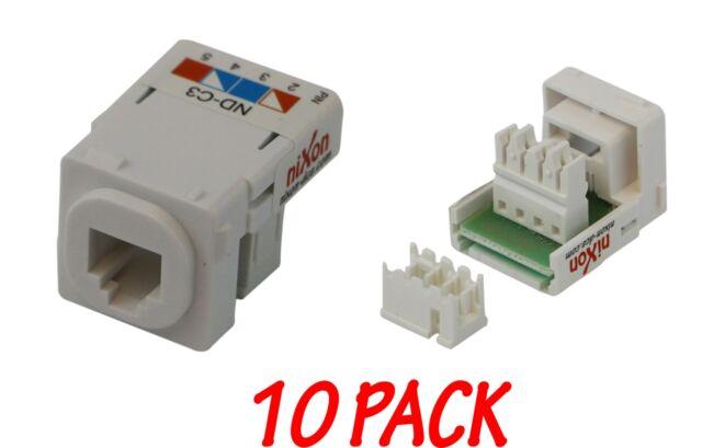 10 x Telephone Mech - Telco / Phone / CAT3 RJ11/12 - Inserts Jacks - Krone Type