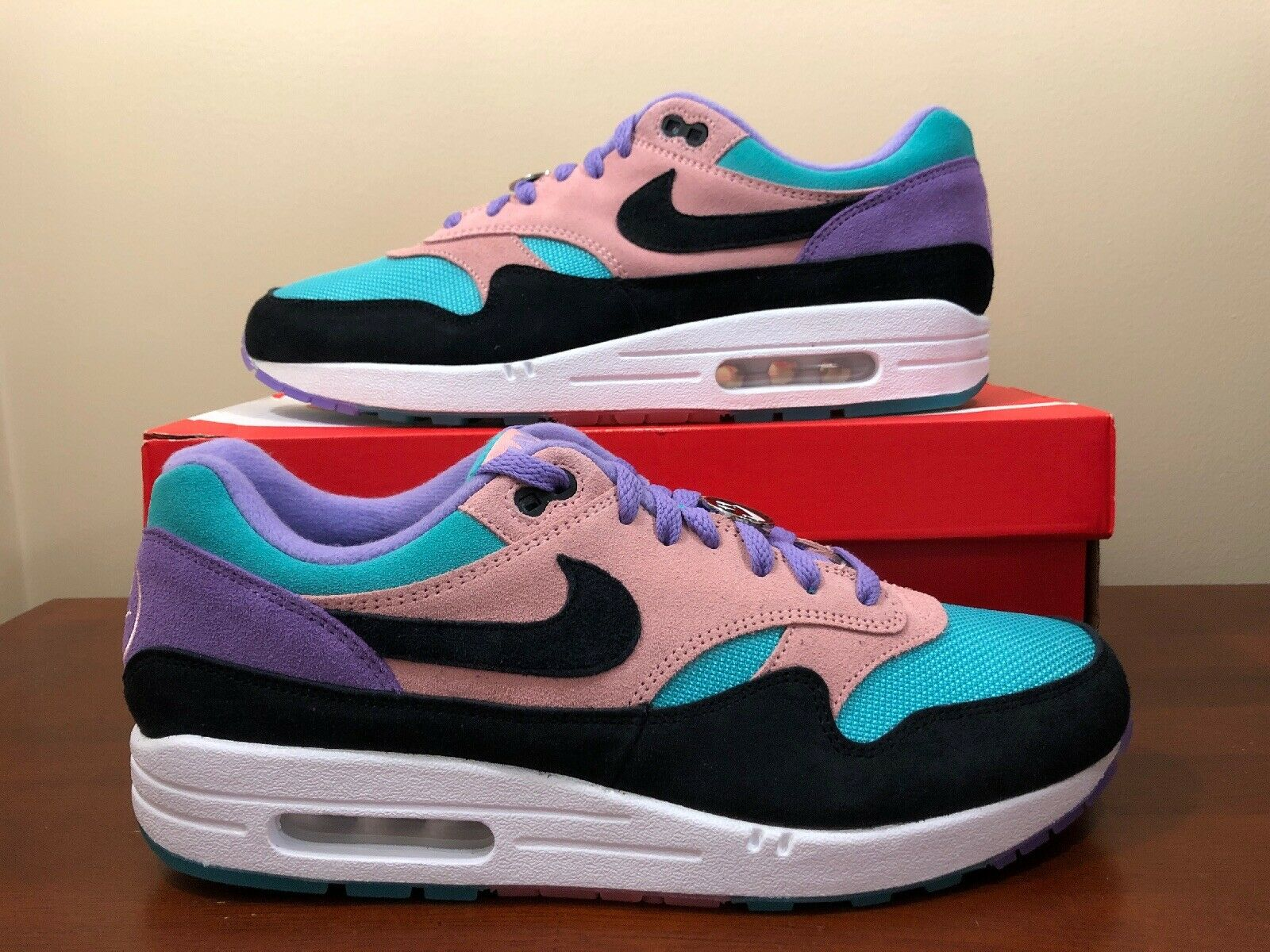 Nike Air Max 1 Have a Nike Day Space Purple Black BQ8929-500 Size 11.5