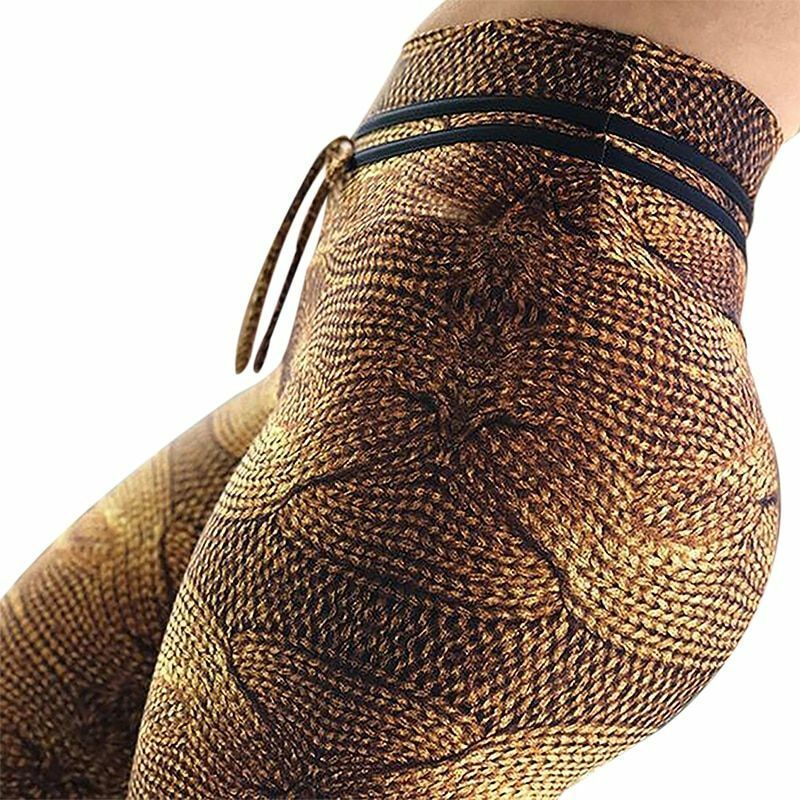 Fashion Women's Yoga Pants Elastic Waists Polyesters Spandex Running Fitness New